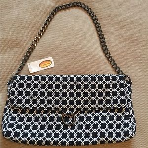 New with tags Talbots B & W Chain Strap Purse